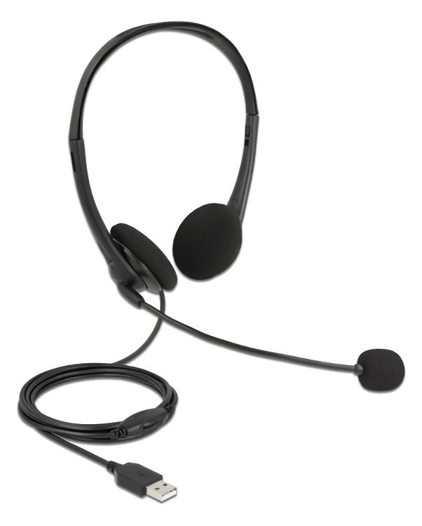 DELOCK headphones με μικρόφωνο 27179