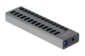 DELOCK hub 13x USB με διακόπτες 63738